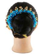 Turquiose Colour Fancy Hair Gajra For Women