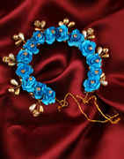 Blue Colour Hair Jewellery Gajra For Women