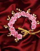 Baby Pink Colour Fancy Wedding Hair Gajra