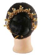 Golden Flower Styled Hair Gajra For Girls