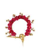 Pink Colour Hair Accessories Jewellery Gajra