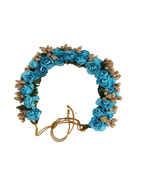 Blue Colour Hair Accessories Gajra