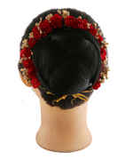 Red Colour Fancy Hair Gajra Tradition