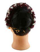 Maroon Colour Hair Jewellery For Wedding