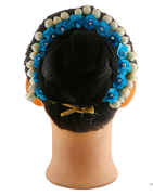 Blue Coloru Floral Design Hair Accessories