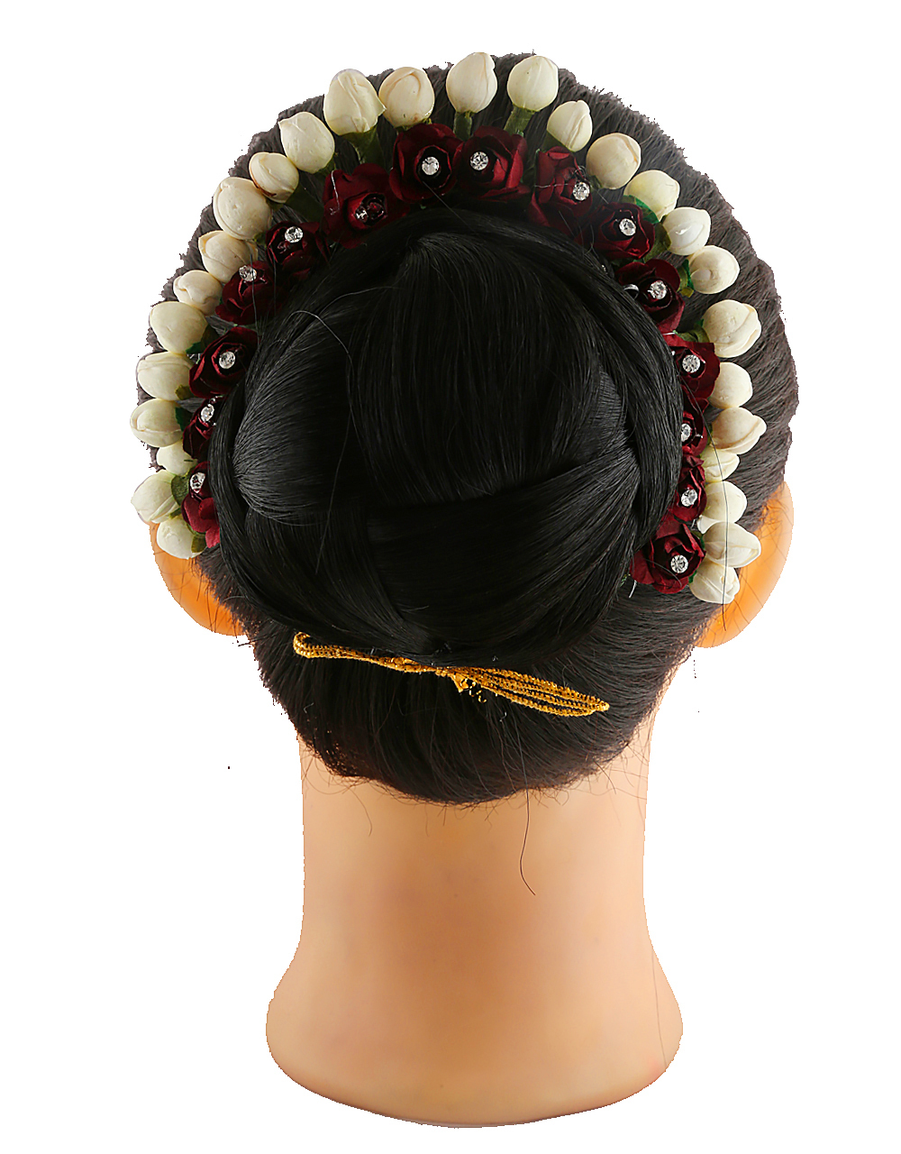 Maroon Colour Hair Gajra For Women Fancy