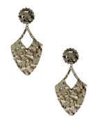 Fancy Silver Finish Designer Earrings Fancy