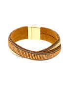 Gold Finish Orange Colour Stunning Bracelets