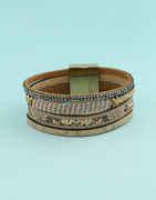 Brown Colour Adjustable Bracelets For Girls Western Wear
