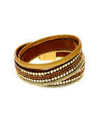 Gold Finish Brown Colour Hand Jewellery For Girls