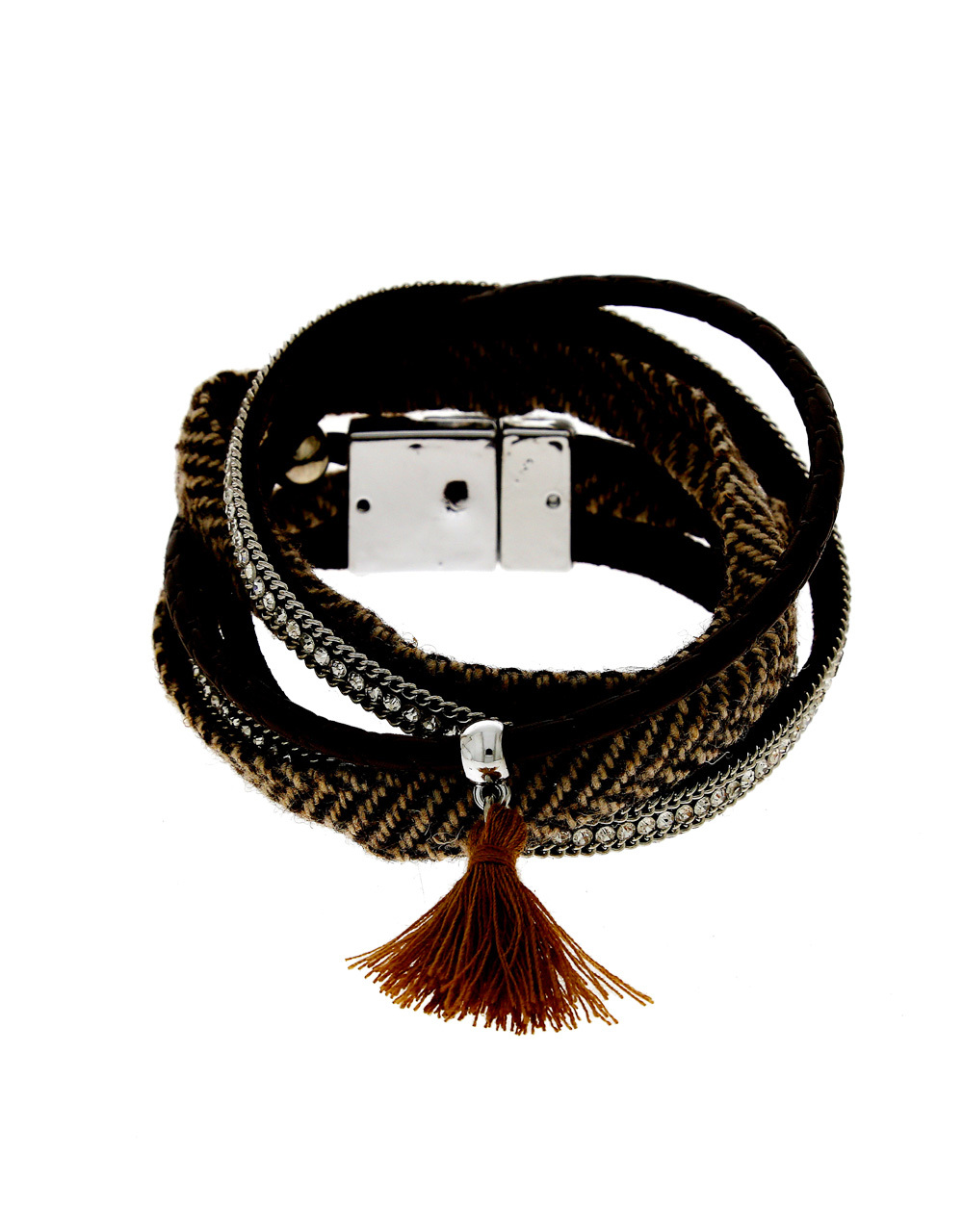 Black Colour Bracelets Styled With Tassel Hand Jewellery