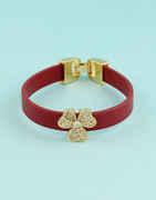 Maroon Colour Floral Design Bracelets For Girls