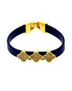 Blue Colour Gold Finish Bracelets Adjustable