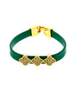 Green Colour Gold Finish Diamond Bracelets
