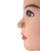 Black Colour Silver Finish Nose Ring