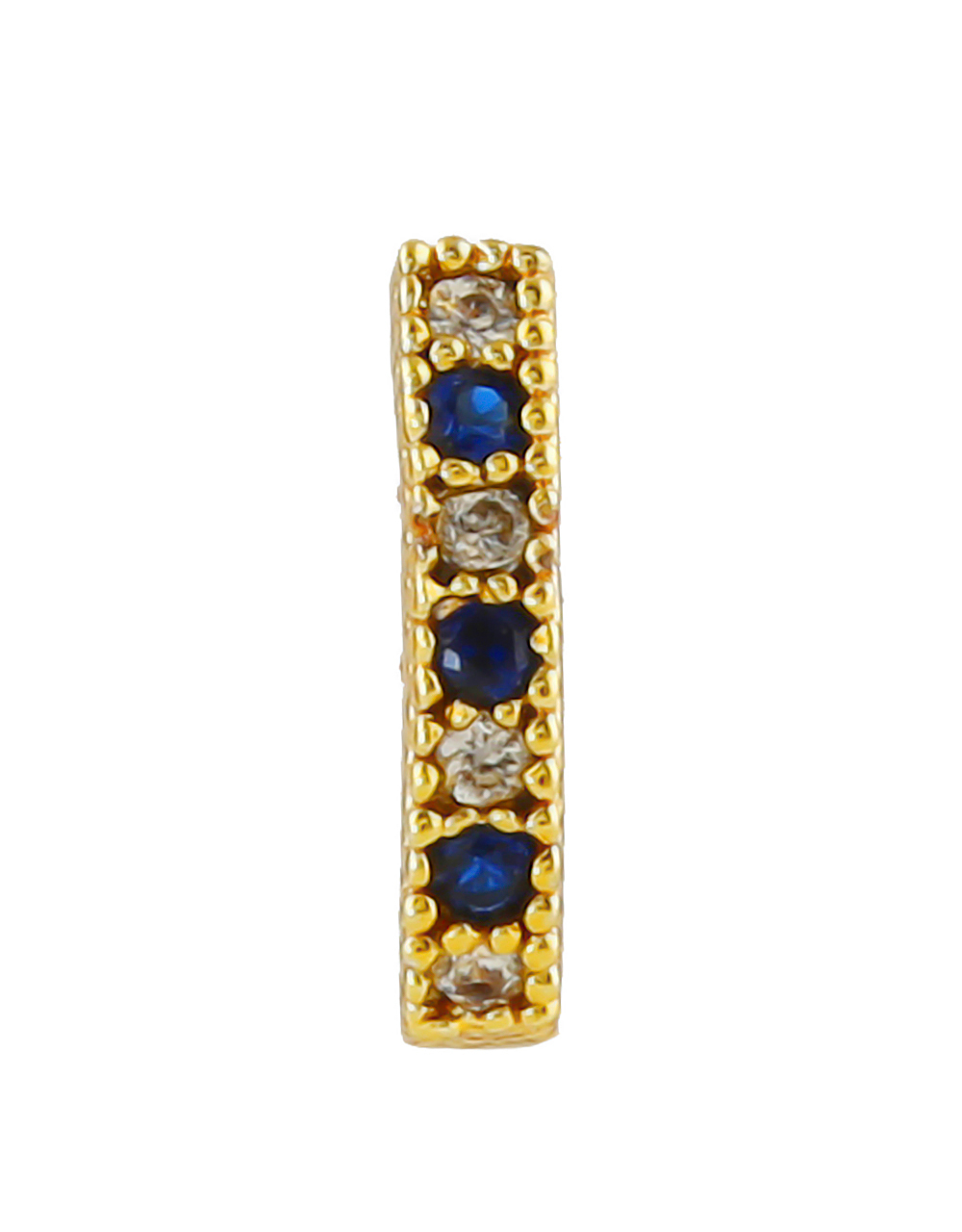 Buy Blue Colour Gold Finish Pressing Nose Stud Online Anuradha Art Jewellery