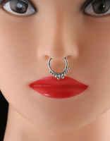 Oxidised Finish Nose Septum Ring