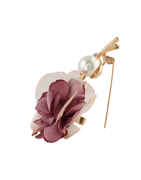 Flower Styled Pink Colour Brooch Pin