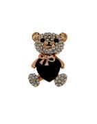 Gold Finish Teddy Design Brooch Pin