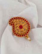 Fancy Gold Finish Ambada Hair Brooch Pin