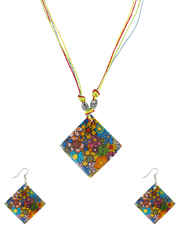 Multi Colour Fancy Dori Korean Necklace