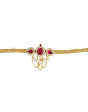Fancy Gold Finish Pink Colour Fancy Armlet Bajuband For Women