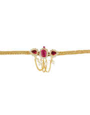Pink Colour Gold Finish Bajuband Fancy For Girls