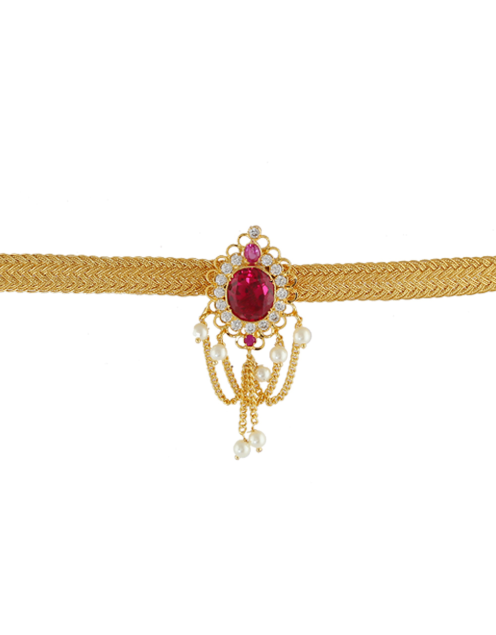 Pink Colour Gold Finish Bajuband Trendy For Girls