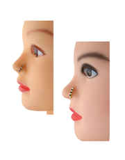 Fancy Black-Pink Colour Diamond Pressing Nose Ring