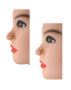 Adorable Black-Green Colour Fancy Nose Pressing Stud