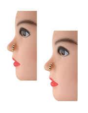 Fashionable Black-Purple Colour Nose Pressing Nath Ring
