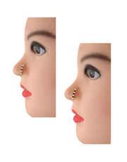 Purple-Blue Colour Designer Diamond Nose Stud