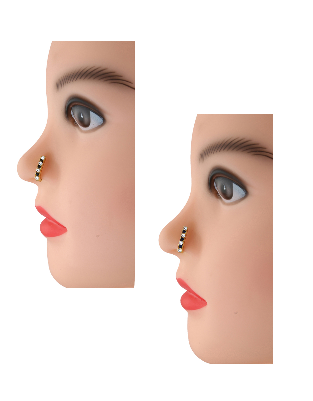 Fancy Black-Blue Colour Fashionable Nose Pressing Stud