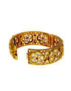 Gold Finish Bangles Styled With Kundan Fancy Bangles