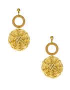 Off-White Colour Designer Earrings For Girls