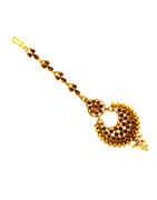 Designer Gold Finish Mang Tika Hair Jewellery