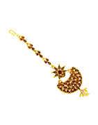 Fashionable Gold Finish Traditional Matha Patti
