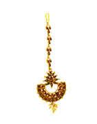 Very Classy Designer Gold Finish Traditional Maang Tikka