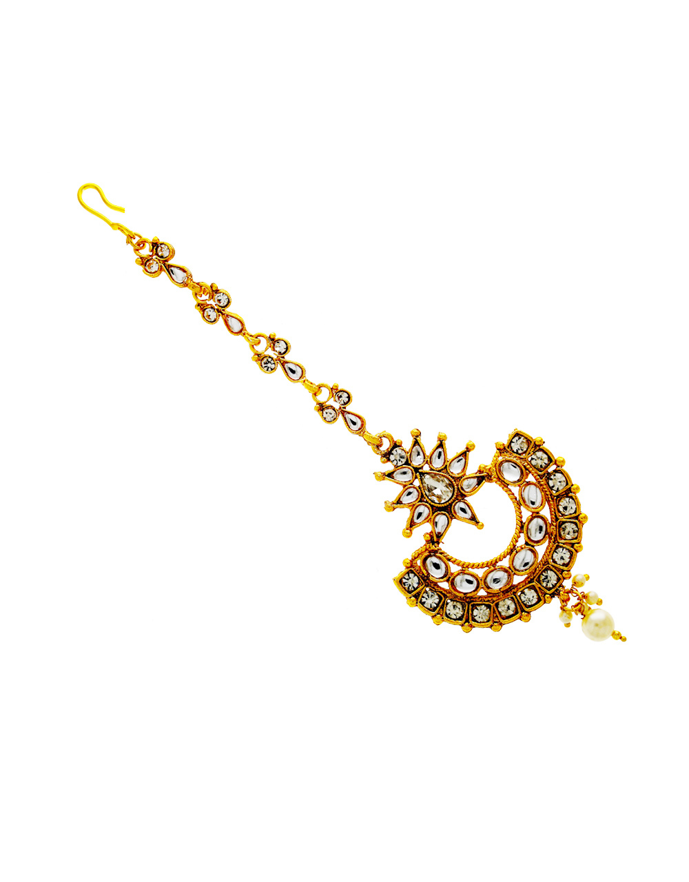 Antique Gold Finish Traditional Maang Tika Fancy