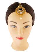 Designer Antique Gold Finish Fancy Maang Tikka Jewellery