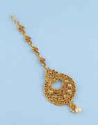 Floral Design Gold Finish Fashionable Mang Tikka
