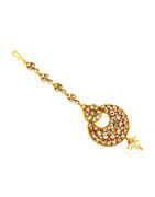 Fancy Gold Finish Fancy Maag Tika Forehead Jewellery