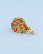 Antique Gold Finish Multi Colour Fancy Saree Pin