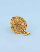 Peach Colour Antique Gold Finish Traditional Sari Pin