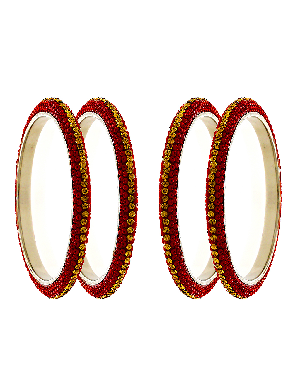 Red Colour Stylish Bangles For Girls Trendy