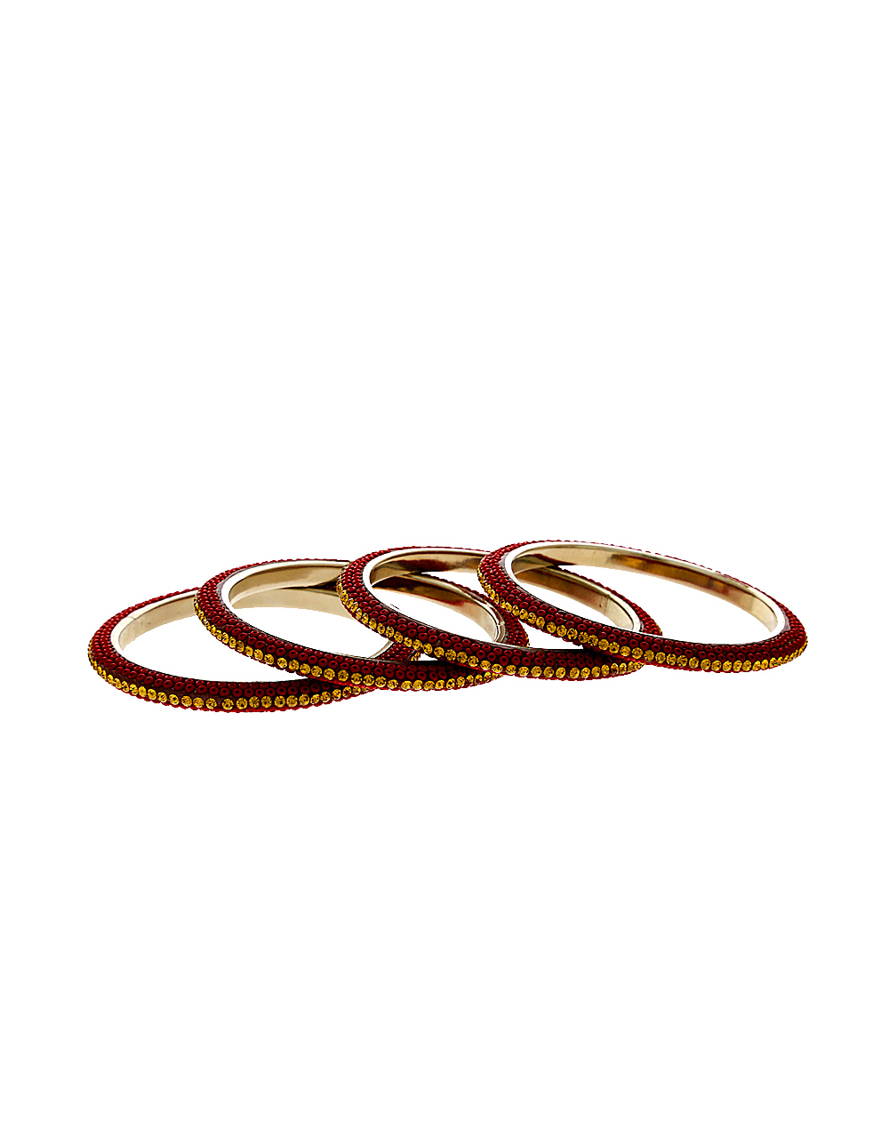 Maroon Colour Silver Finish Fancy Beads Bangles