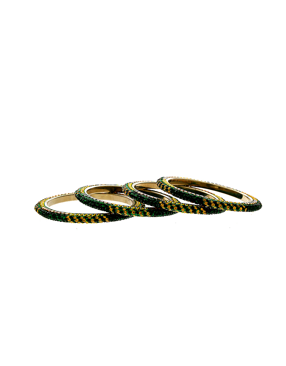 Green Colour Silver Finish Fancy Bangles For Wedding
