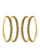 Gold Finish Bangles Studded With Stones Fancy Bangles