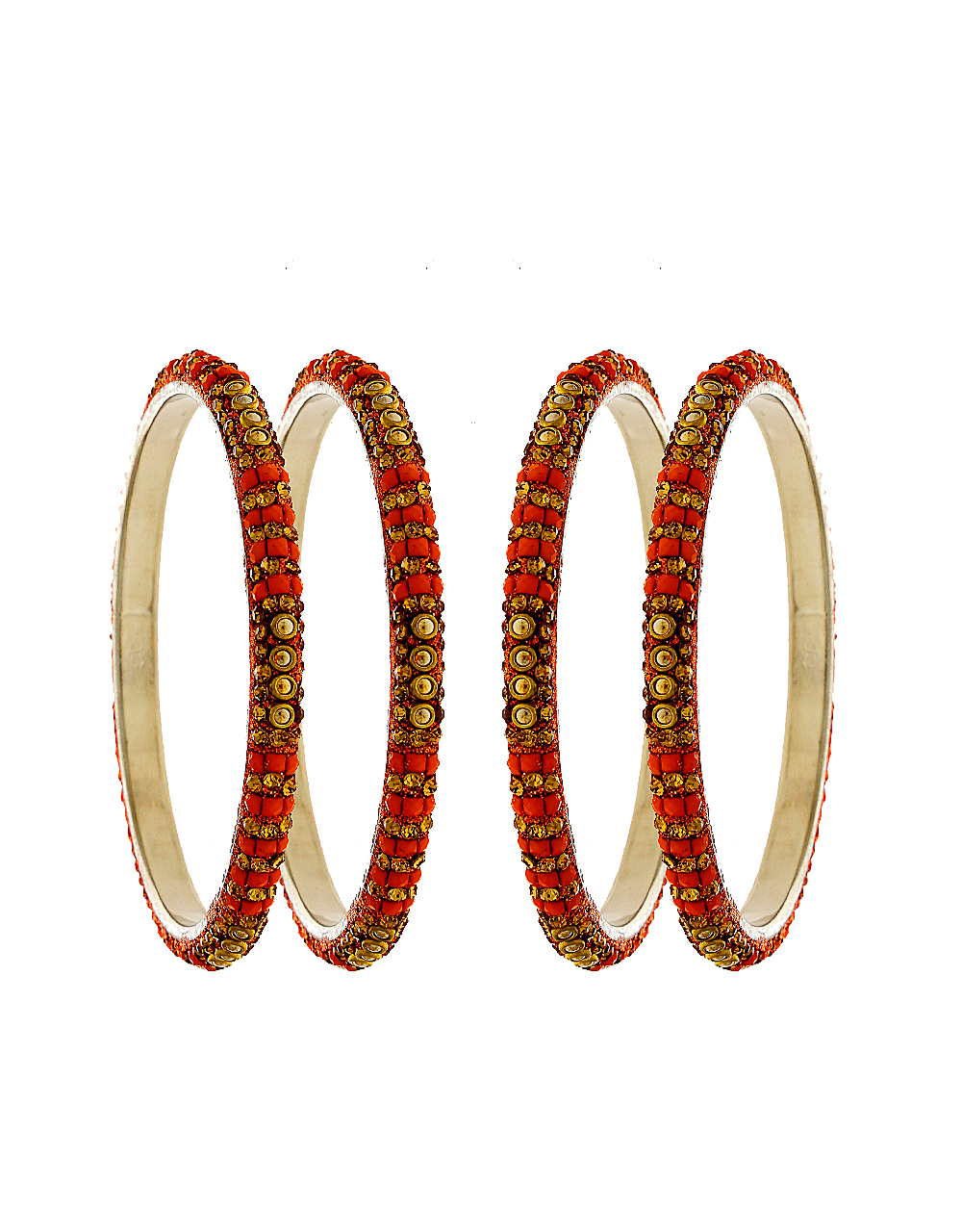 6ce0f21bbe475 Red Colour Fancy Bangles Styled With Stones Beads Kada