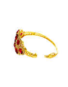 Gold Finish Pink Colour Diamond Fancy Bracelets